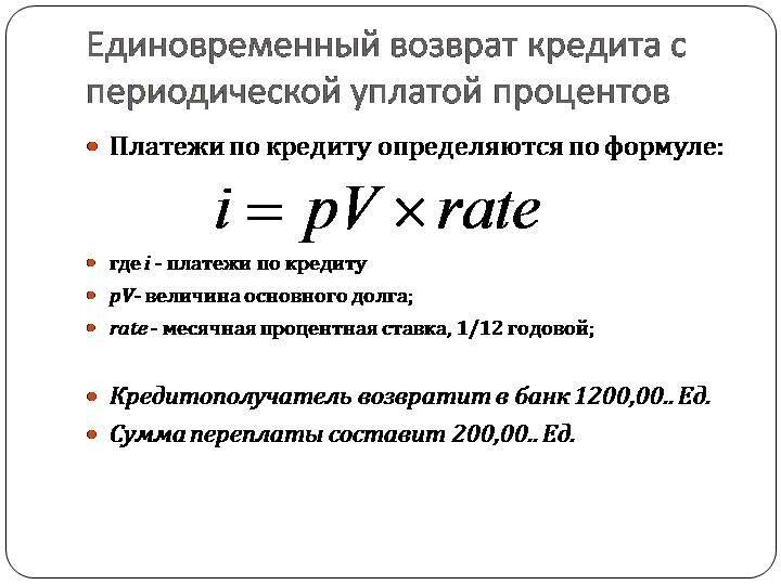 кредитный метод расчетов