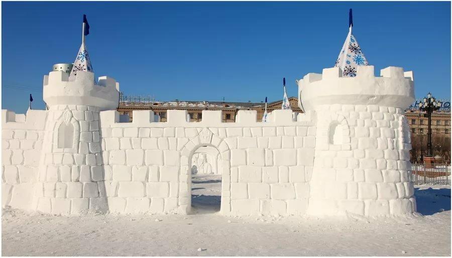 Картинки из снега крепость