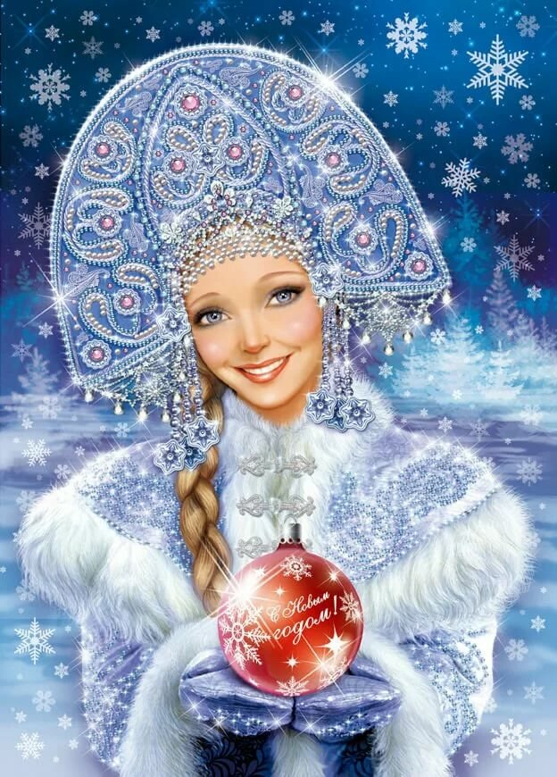 Сказочная снегурочка в картинках