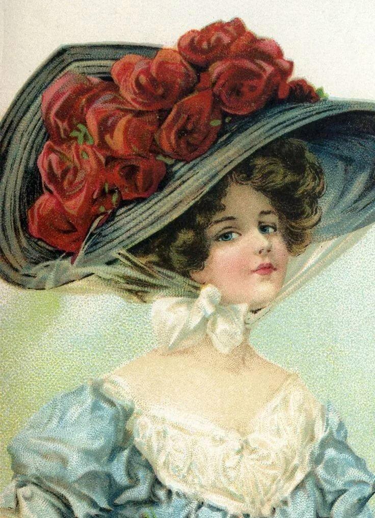 Открытки аниме, ретро открытки женщин