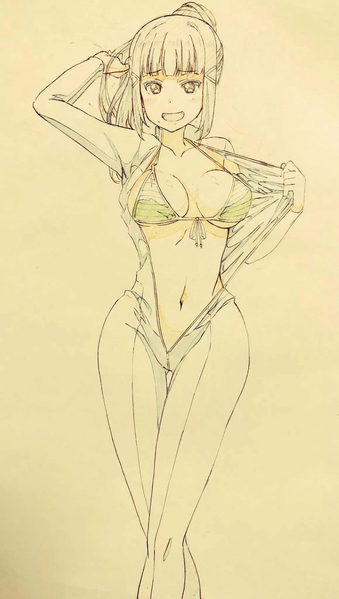 Sexy anime sketches