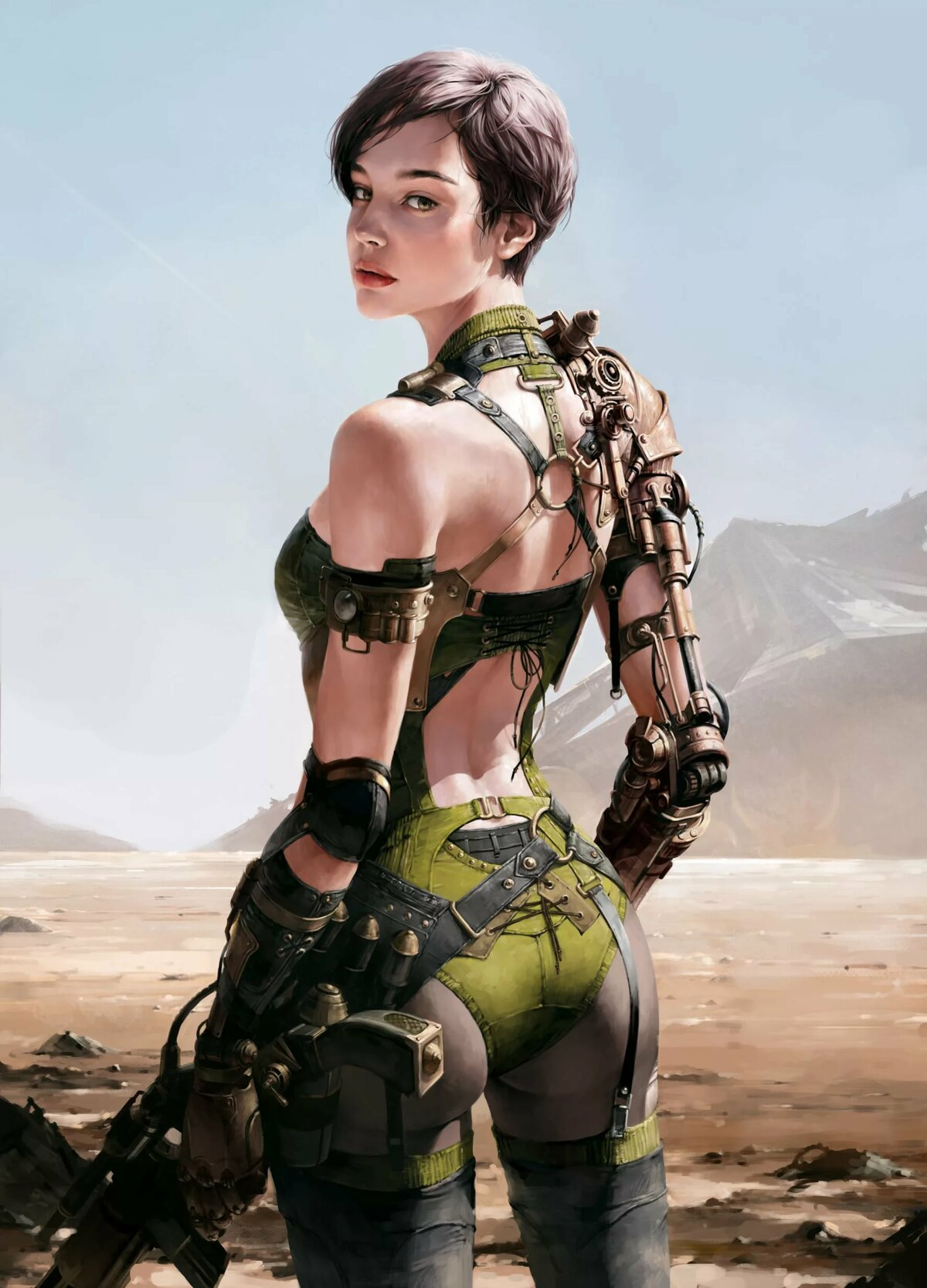 Topless scifi girls