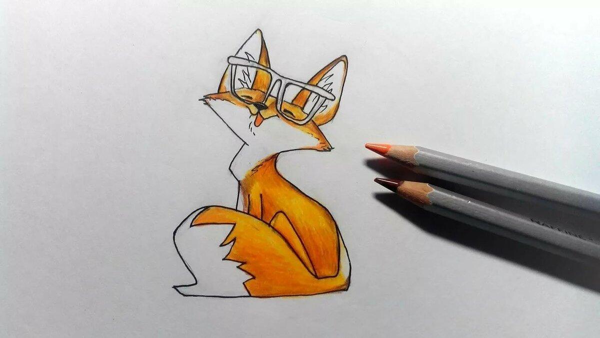 Лисички картинки нарисованные легкие