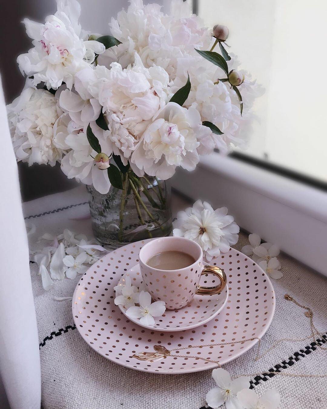 красивые картинки с кофе и цветами доброе комплектации, также фото