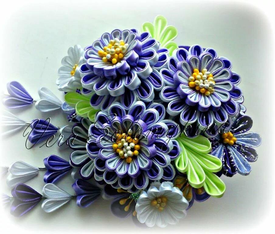 цветочки канзаши фото протопали