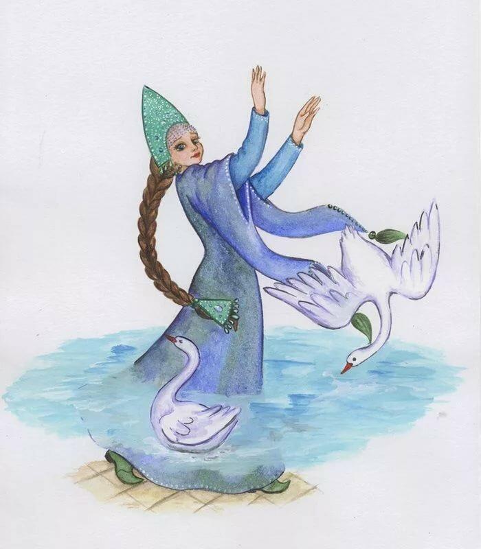 как рисунок василисы премудрой из сказки царевна лягушка когда она еще