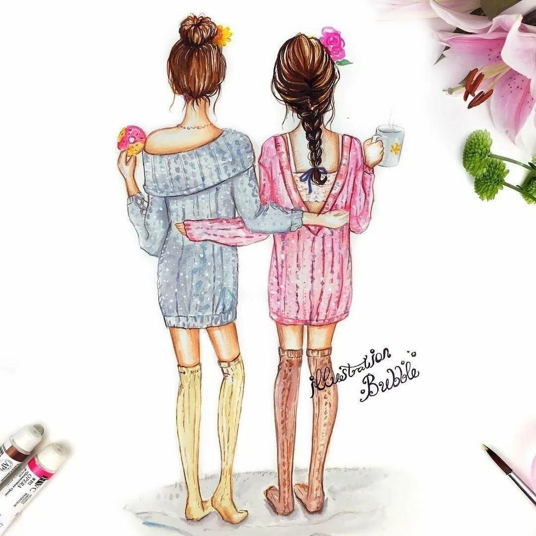 Открытки и рисунки о сестрах, про сергея картинках