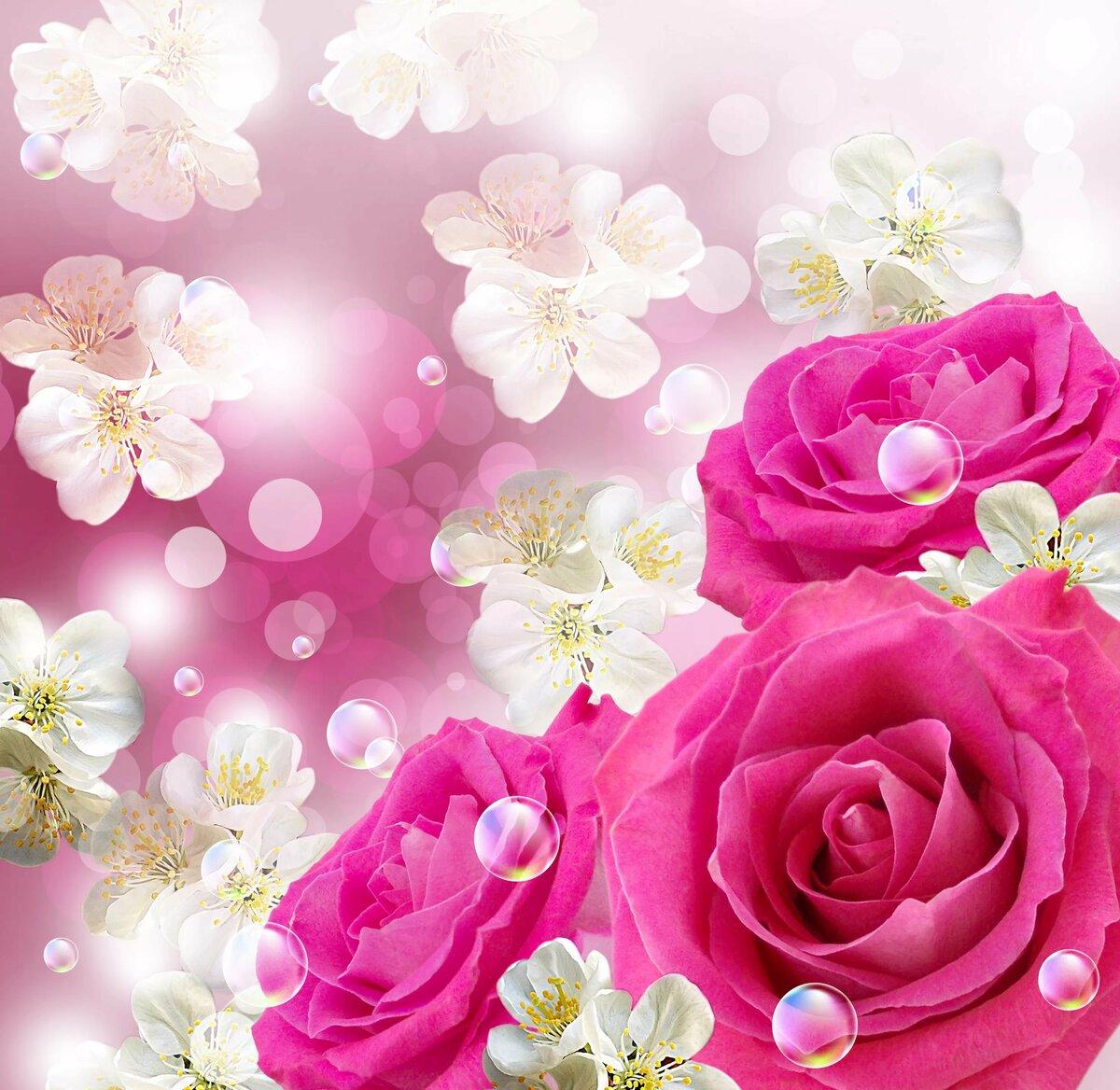 Цветы на юбилей открытка, написать