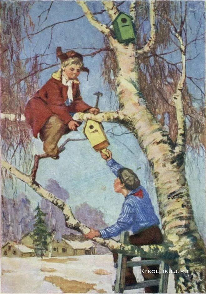 Картинки весна советские