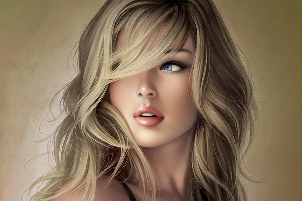 Картинки блондинки на аву нарисованные
