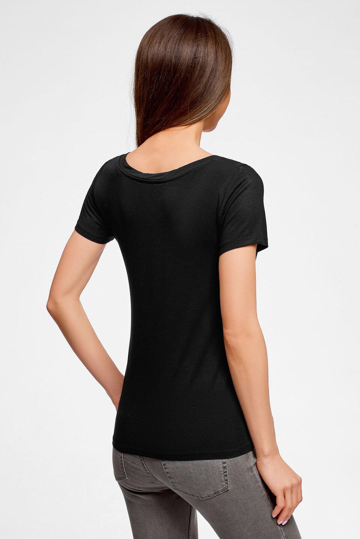 купить черную футболку женскую
