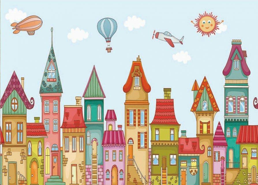 Рисунок города картинки детские