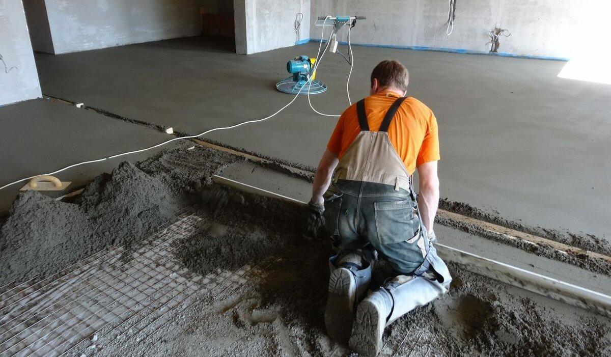 сухая цементно песчаная стяжка пола
