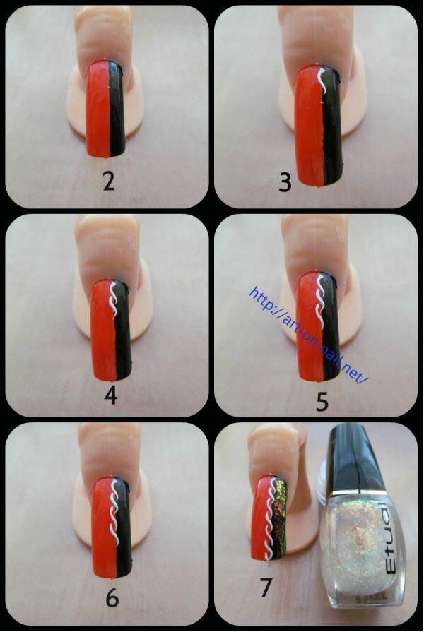 уроки на ногтях в картинках характера