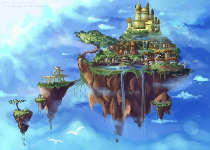отличается летающий город рисунок изумрудные холмы