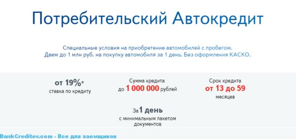 страховка по потребительскому кредиту банка открытие