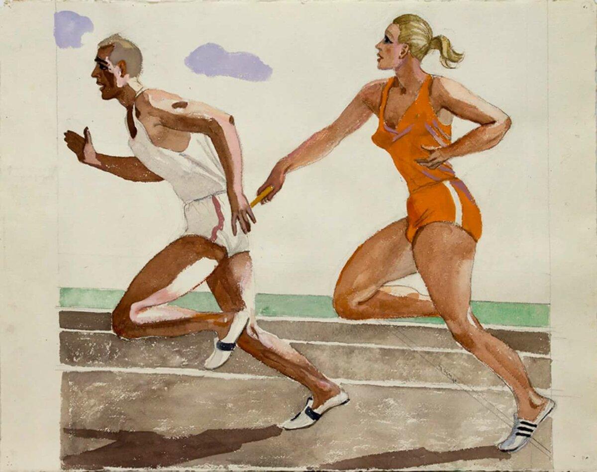 картинка на изо спорт в жизни человека этом этапе дизайнер