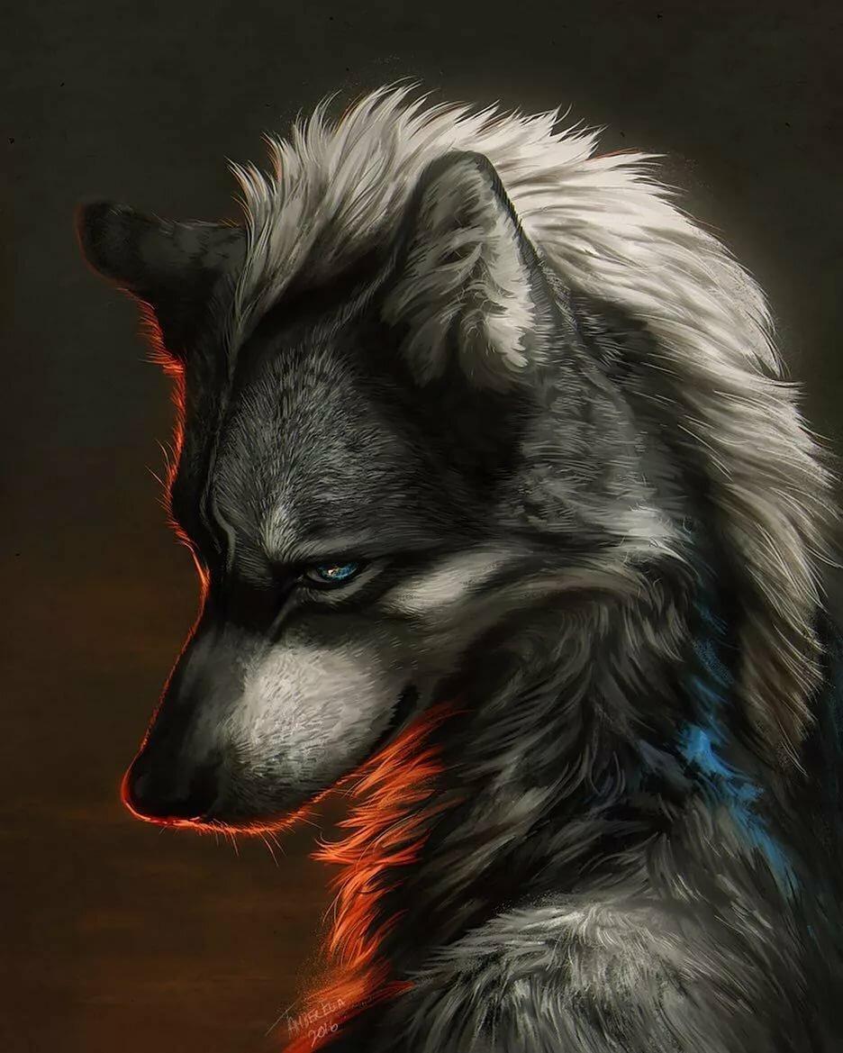 Картинки злых волков на аву