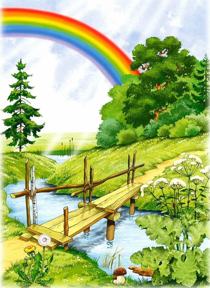 Картинка лето рисованная для детей