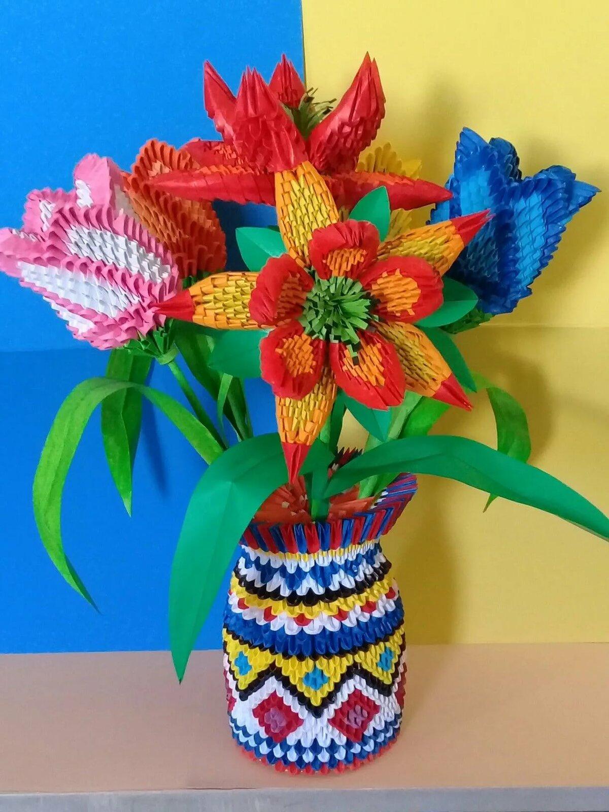 так модульное оригами картинки со схемами цветы любой