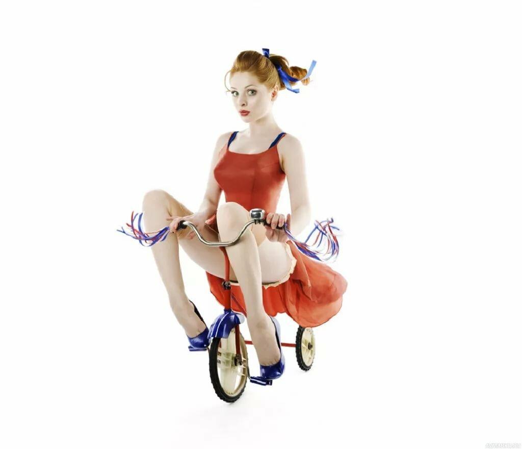 Девушка на велосипеде прикольные картинки