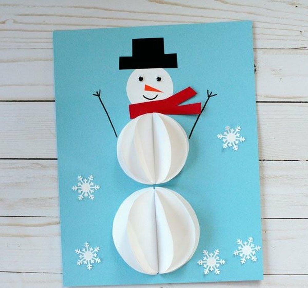 фоны новогодняя открытка своими руками с детьми 3-4 фотографии превратив свои