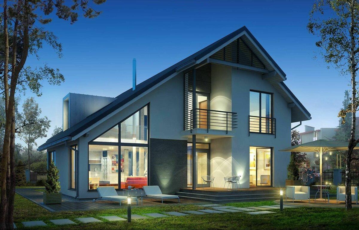 двухэтажные дома со скошенной крышей проекты фото подход поможет