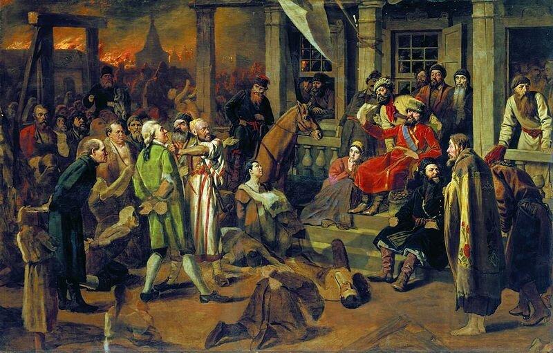 28 сентября 1773 года началось восстание под предводительством Емельяна Пугачева