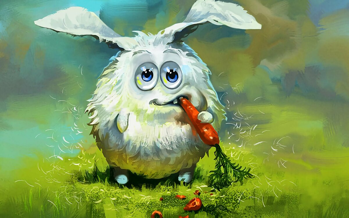 Прикольная картинка заяц