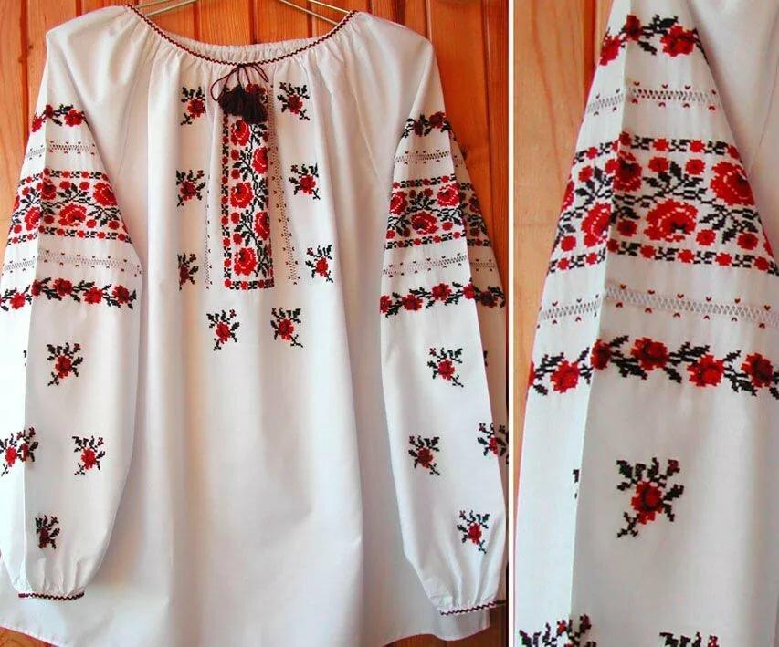 Русский народный узор вышиванки фото
