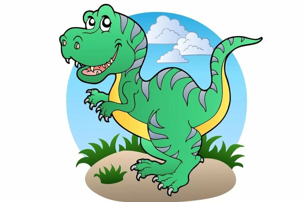 Картинка с динозаврами детская