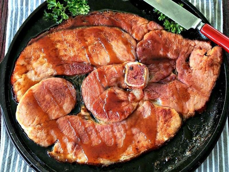 рецепты мясных блюд на сковороде с фото горящие