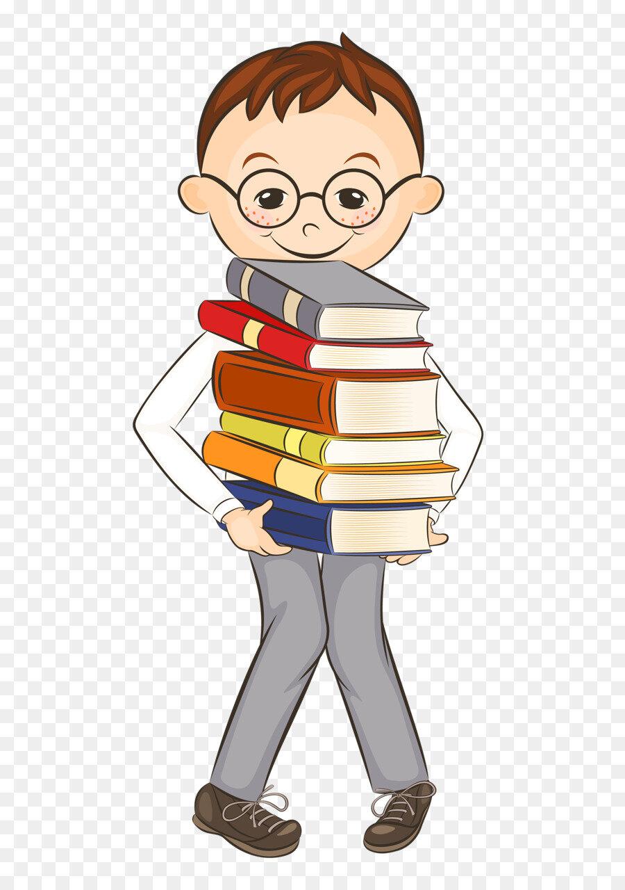 Картинки ученика с учебниками