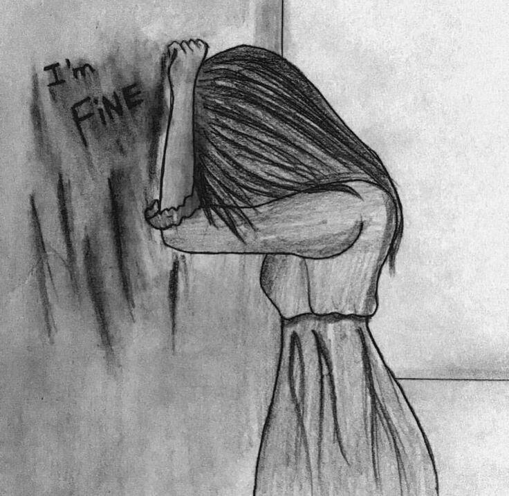 Рисунки когда грустно карандашом легкие