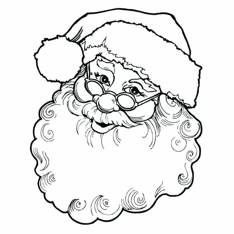 Дед мороз картинки для раскрашивания лицо фарах