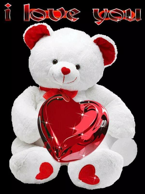 Гифы с сердечками и белыми медведями