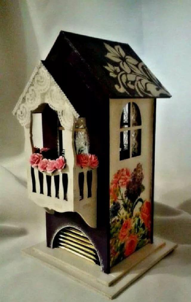 что чайные домики декупаж картинки с балконом пару