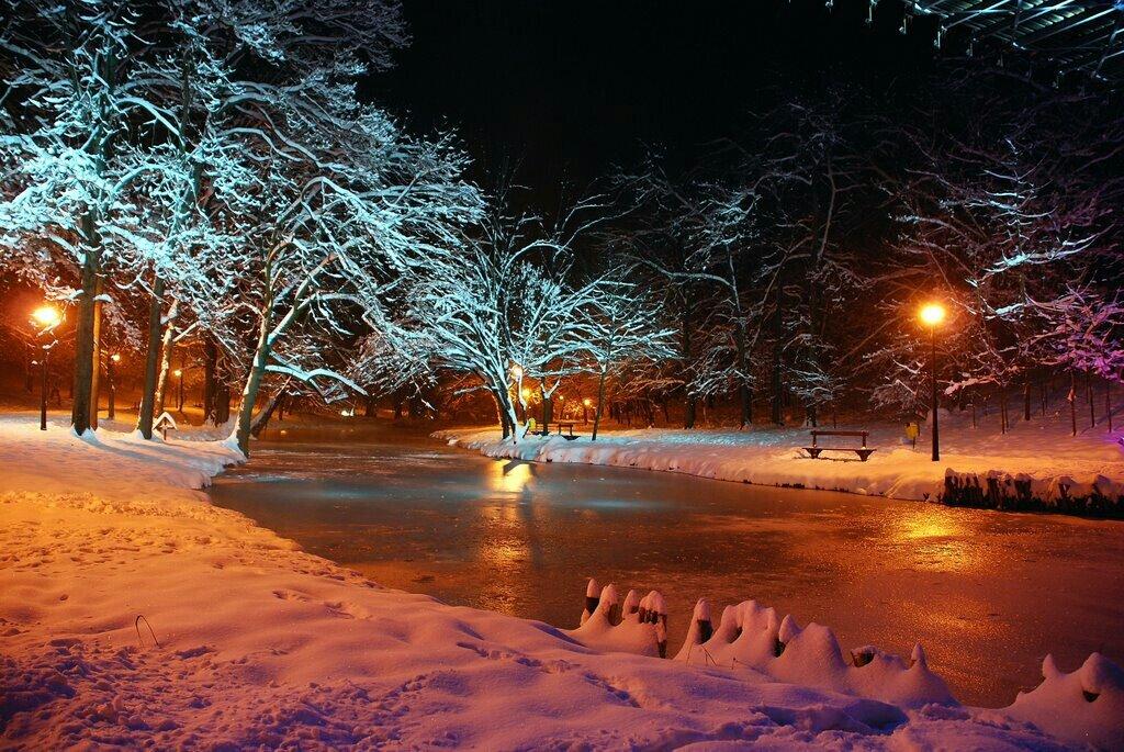 Фото зимнего вечера