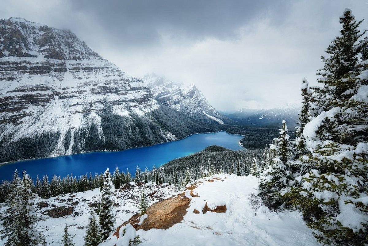 Фотообои на комп зима в горах