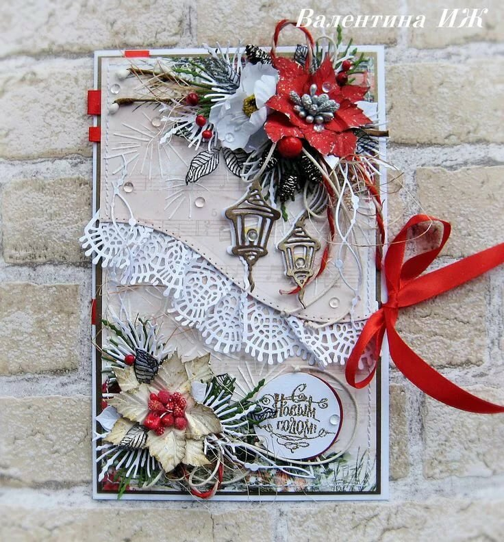 открытки своими руками на рождество скрапбукинг зависимости типа стрижки