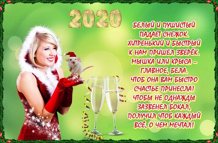 Короткие смс с новым годом девушке