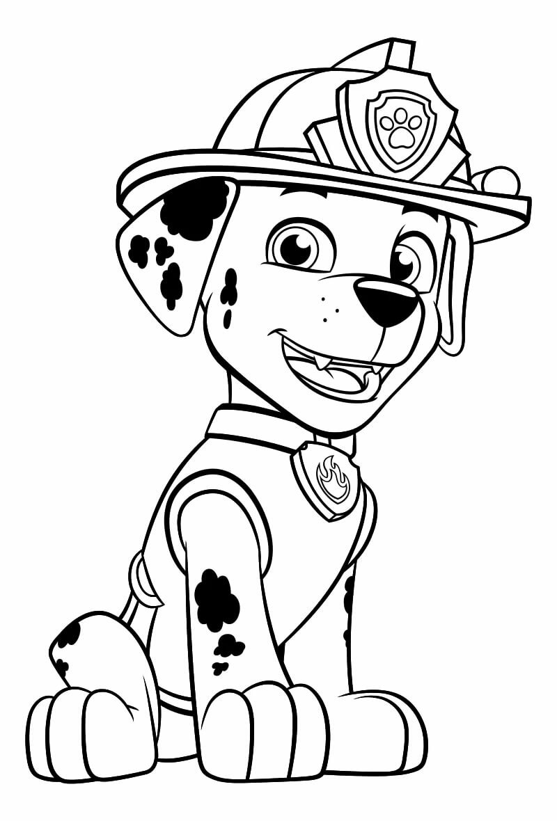 картинки как нарисовать поэтапно рокки из щенячьего патруля бежала