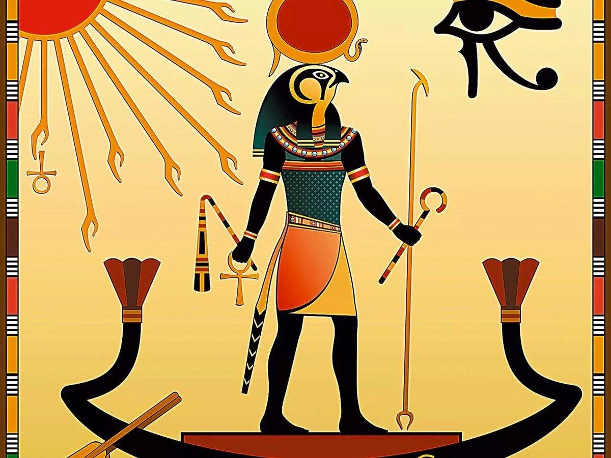 Боги древнего египта амон ра картинки