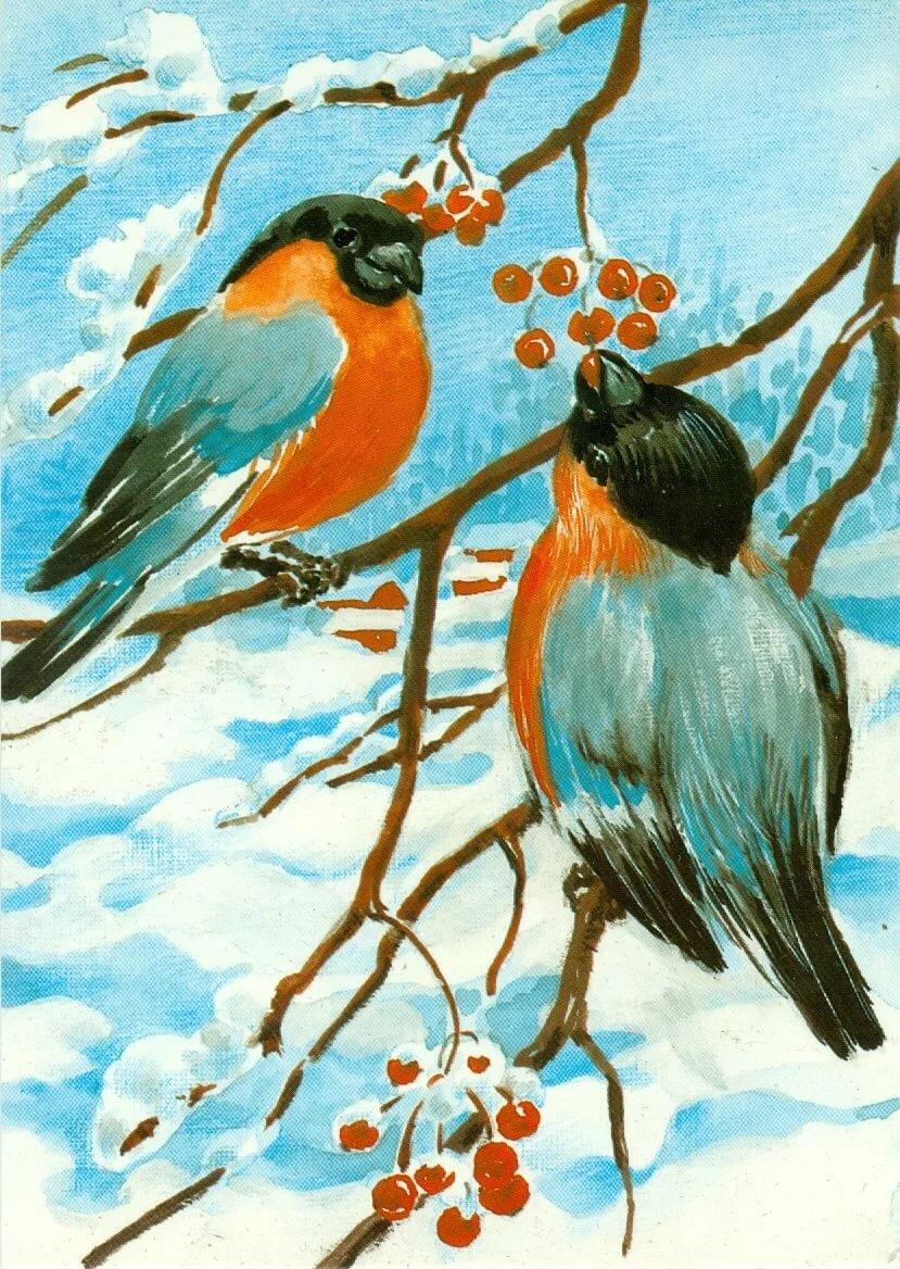 открытка с изображением синицы этом разделе интернет-магазина