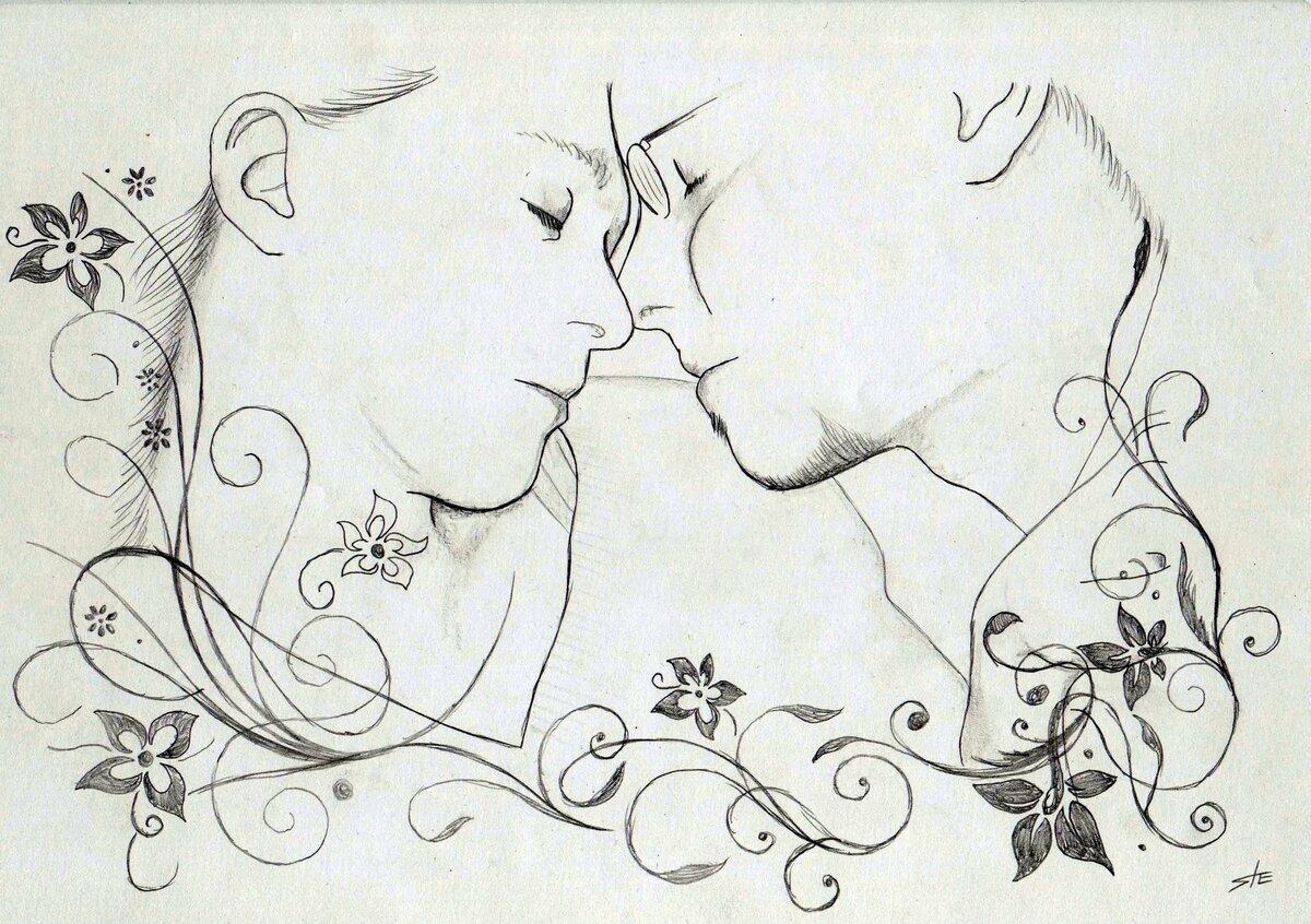 Влюбленный картинки простые