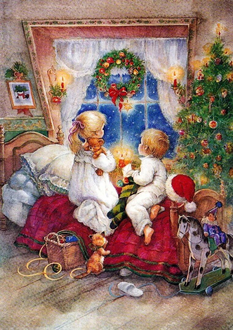 Открытки рождество христово для детей
