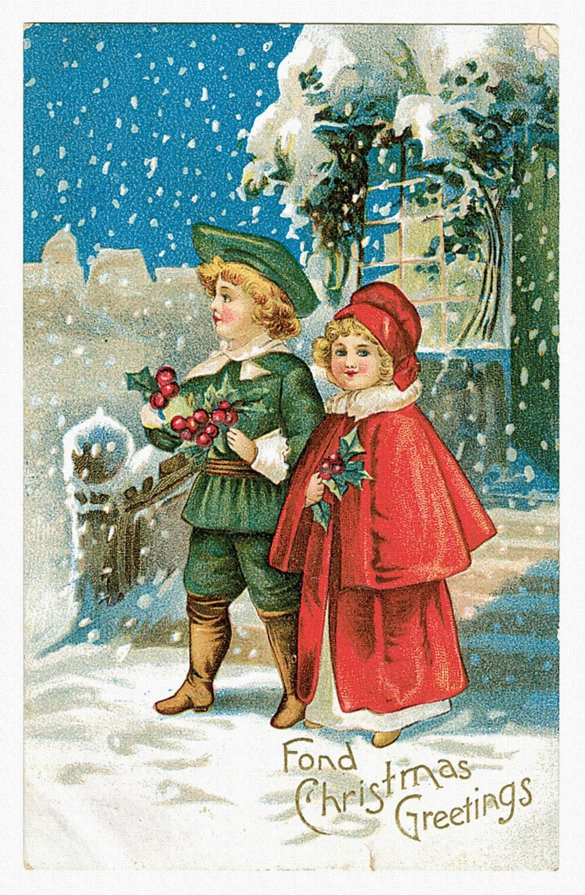 Открытки нового года рождества