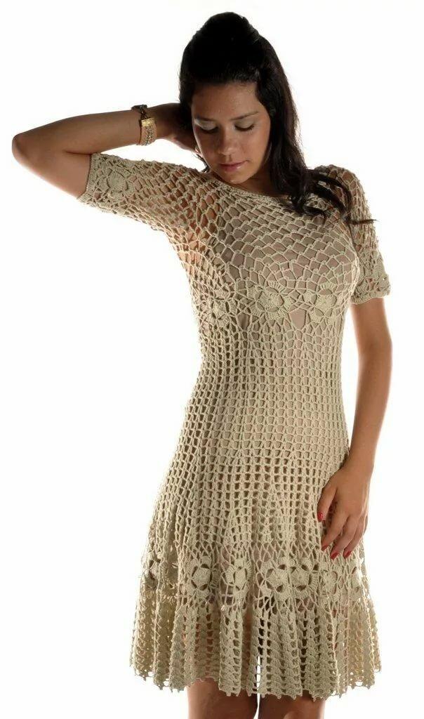 Пошаговое вязание платья крючком с фото
