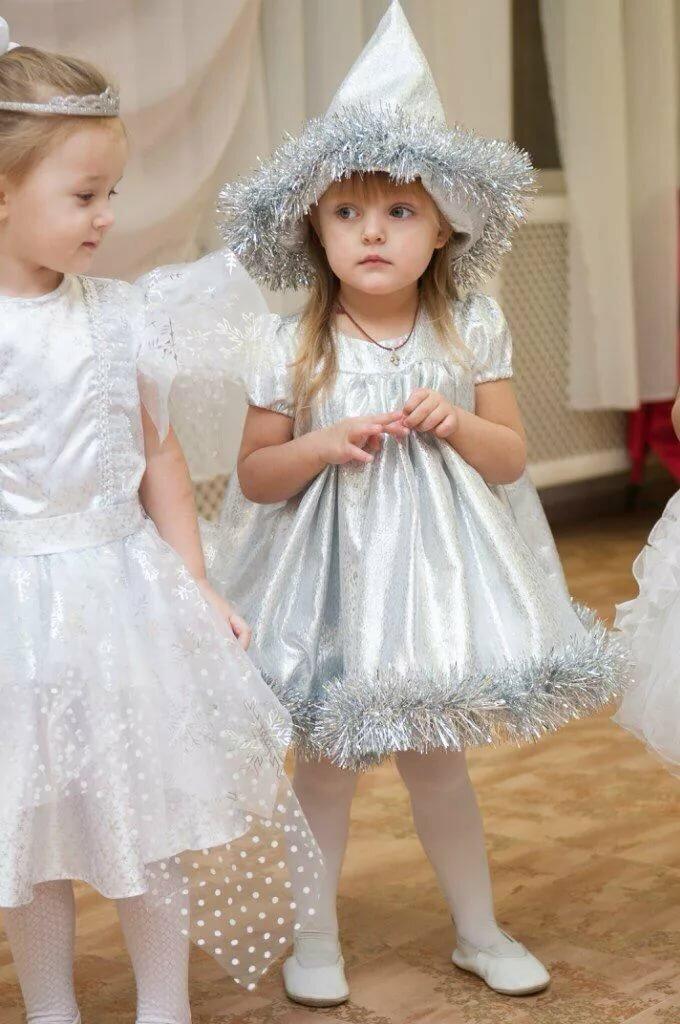 платье снежинки своими руками фото