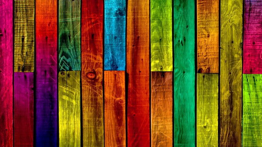 картинка разноцветных досок трансформацию стандартного